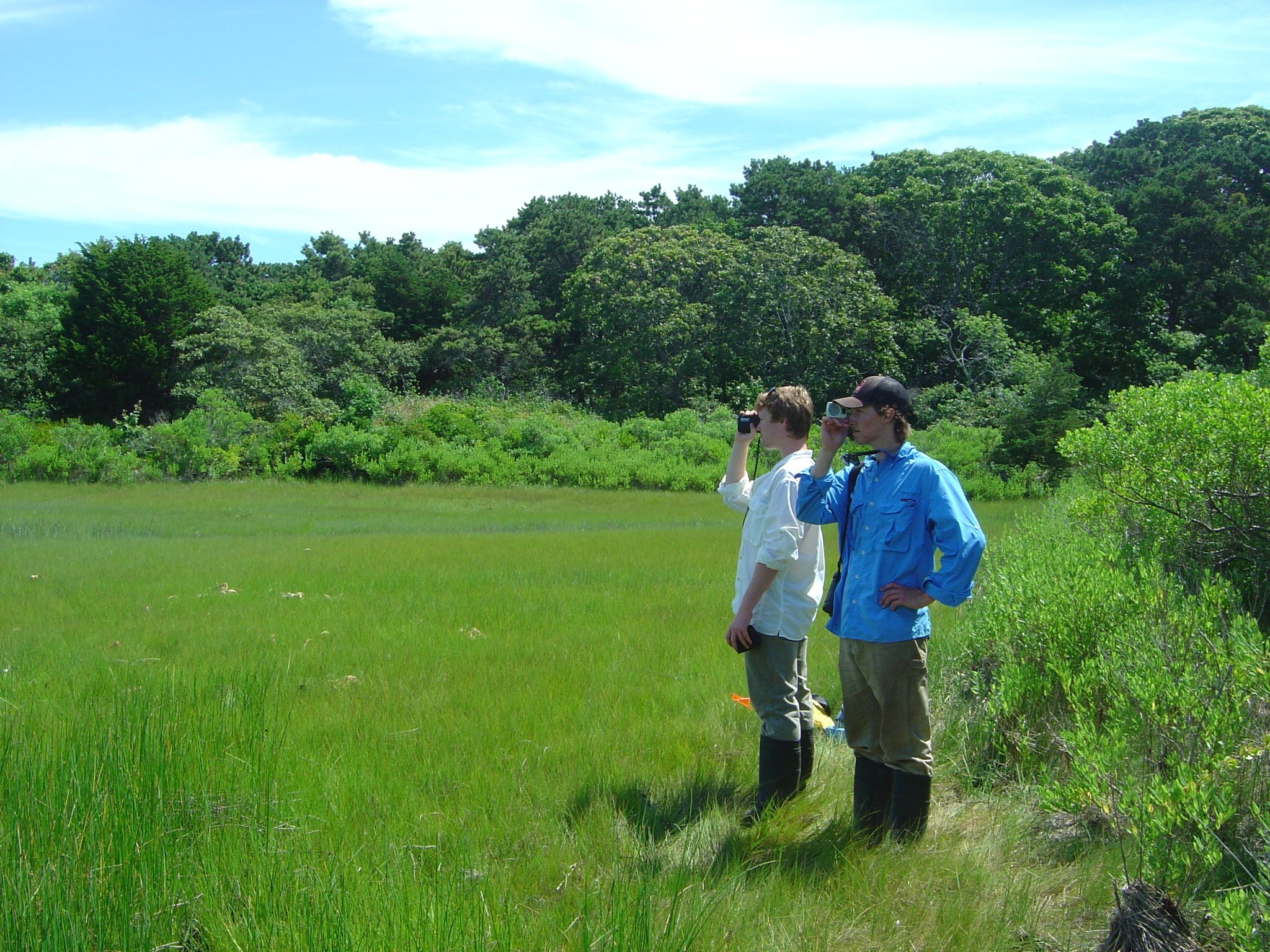 Middlebury Conservation Biology Students Luke Elder and Max Hoffman assisted with habitat assessment for some surveys